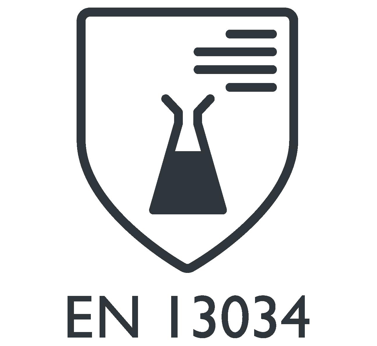 EN 13034 Protecção contra salpicos