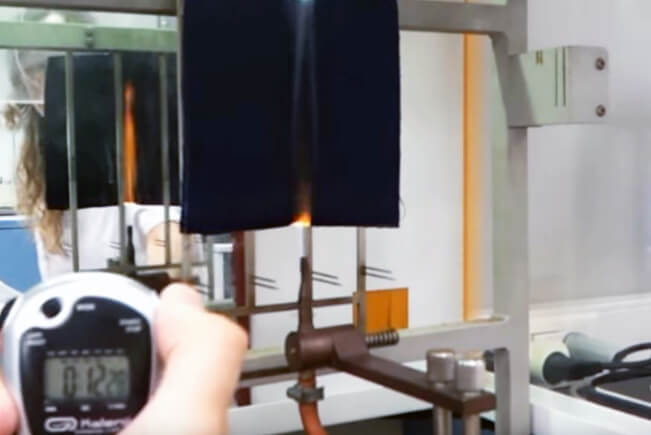 flame retardant fabrics Tests MARLAN V vertical flame test ASTM D6413
