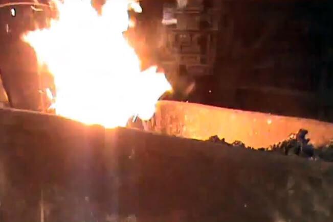 Laddle Furnace molten iron shedding Marko AT395