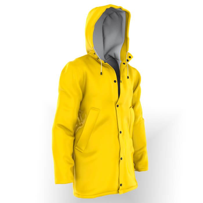High visibility fire resistant rain coat Marina Textil